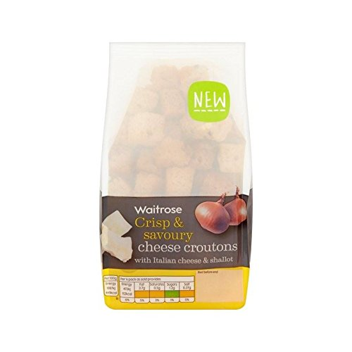 Italian Cheese & Shallot Croutons Waitrose 100g - Pack of 6