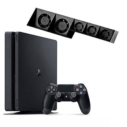 Ventilador de refrigeración USB 5 refrigerador externo Turbo Control de temperatura para Playstation PS4