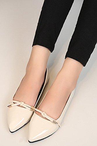 Cut Bow Low Aisun apricot Toe Cute Women's Flats Pointy Shoes q6cUwSY