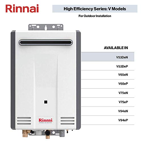Rinnai V53DeN Tankless Water Heaters, V53DeN-Natural Gas/5.3 GPM