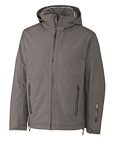 Cutter & Buck Men's Waterproof Fleece Jacket, Elemental Grey, X-Large