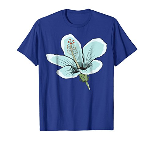 Hawaiin Blue Flowers (Hawaiin Blue Hibiscus Flower T-Shirt)