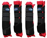 Horse Stable Shipping Boots Wraps Front Rear 4 Pack Leg Hoof Care Premium 4120RD
