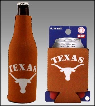セットの2 Texas Longhorns Can & Bottle Koozie Cooler B002OC8LR6
