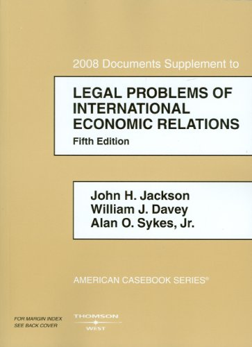 Jackson, Davey, and Sykes' Legal Problems of...