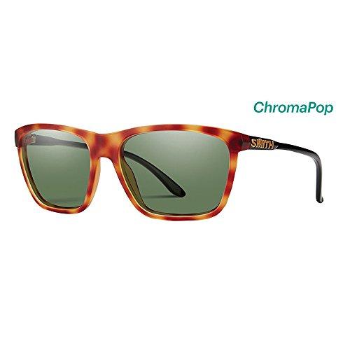 Smith Optics Womens Delano Archive Sunglasses - Matte Honey Tort/Black/Chromapop Polarized Gray (Polarized Gray Green)