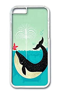 iPhone 6 Case, Custom Design Covers for iPhone 6 PC Transparent Case - Whale