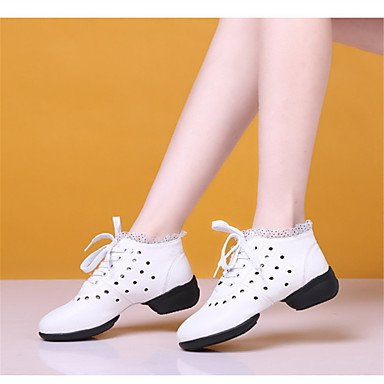 Swing Baile Zapatos Blanco Zapatos Rojo Color Claqué Jazz Latino red de Negro Salsa baile Beige No Zapatillas Moderno de Personalizables de 1rPnA1WT