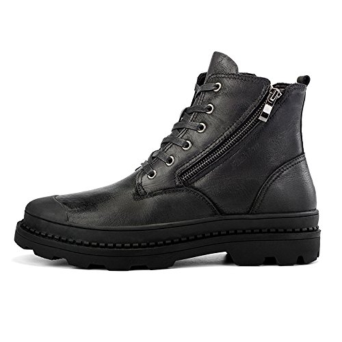 ENLEN&BENNA Men's Motorcycle Combat Boots Military Desert Boots Tactical Boots Side Zip Toe Cap Work Boots Casual Fashion