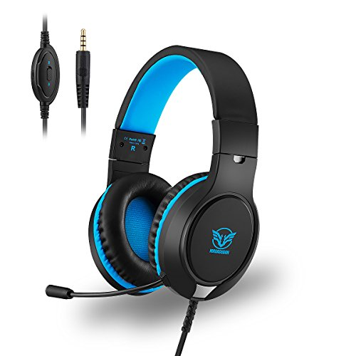 Gaming Headset PS4 with Mic, X-GaGa 40mm Innovations Acoustics Units 3.5MM Surround Sound Noise Canceling Ergonomics Design for Window OS PC PS4 Xbox One