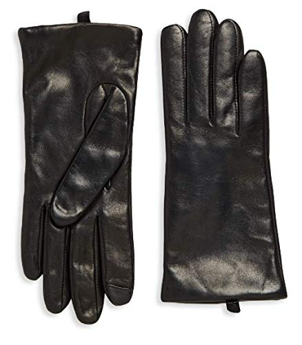 Saks Off Fifth Avenue Women`s Leather Gloves, Cashmere-Lined 100% Sheepskin Leather - Avenue Fifth Cashmere