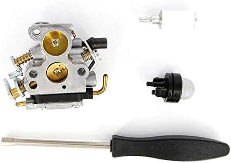 HUIJUNWENTI For el carburador Husqvarna 235 240 236 235E 236E 240E motosierra 574 719 402 545 072 601 Con la herramienta de filtro de combustible tornillo del bulbo