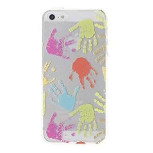 TY- Colorful Palma Patrón Transparente Funda protectora para el iPhone 5/5S