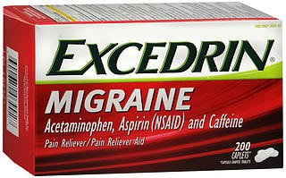 Excedrin Migraine Pain Reliever - 200 Caplets, Pack of 6 by Excedrin