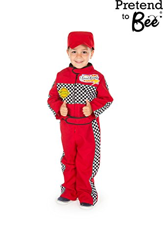 F1 Racing Girl Costume (Childrens Boys Girls Red F1 Racing Car Driver Fancy Dress Costume 2 - 3 Years by Pretend to Bee)