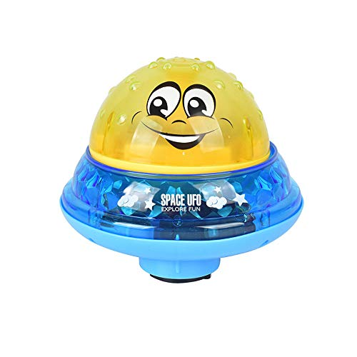 BELUPAID Bath Toy Multifunctional Automatic Induction Spray Water Toy Amphibious Interesting Light Music Toys for Cute Infant Children's