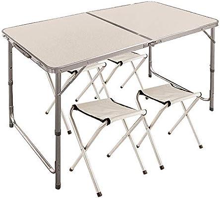 Aktive 52815 - Mesa plegable con sillas Sport 120x60x70 cm ...