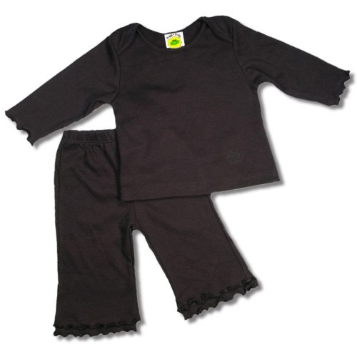 Baby Girls Two Piece Playwear Outfit in Black