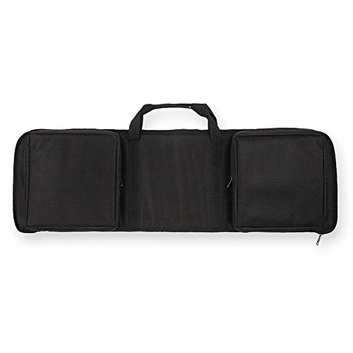 Tactical Assault Rifle Case - Bulldog Extreme Rectangle Discreet Black Assault Rifle Case (35-Inch)