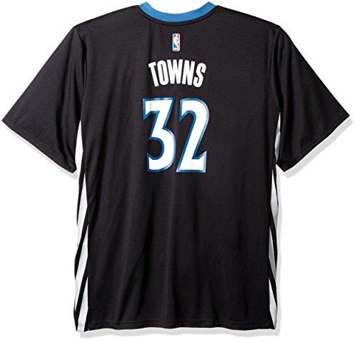 fan products of NBA Minnesota Timberwolves Karl-Anthony Towns #32 Men's Alternate Road Replica Jersey, Medium, Black