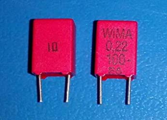 QTY-25 WIMA MKS4-.1//100//10//P7.5 0.1uF 100Vdc 10/% Polyester Film Capacitor
