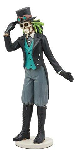 Ebros Day Of The Dead Gothic Steampunk Gentleman Skeleton Figurine Steampunk Detective Officer Skeleton Statue]()
