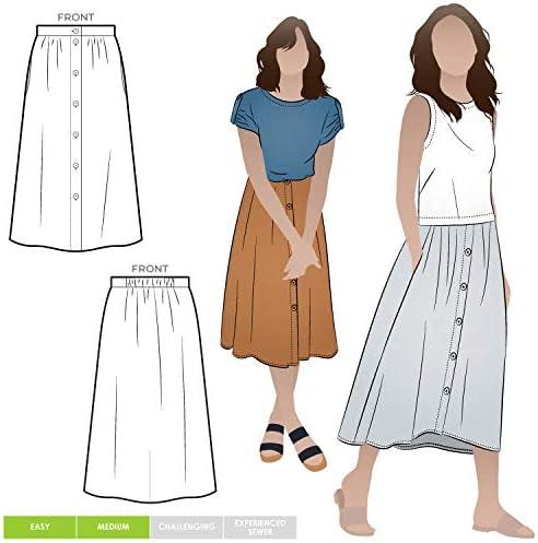 Patrón de costura Style Arc – Bonnie tejido falda: Amazon.es: Hogar