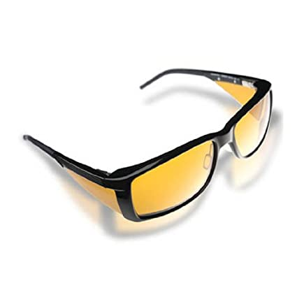 c7b74150e3c Eschenbach wellnessPROTECTION Sunglasses - Men s Frame - 65% Yellow Tint -  Safety Glasses - Amazon.com