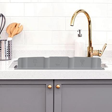 Buy Mia Home Silicon Kitchen Sink Water Splash Guard Grey Online