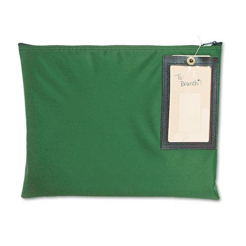 MMF Industries Nylon Flat Transit Sac, 14 x 11 Inches, Hunter Green (2341411N02)