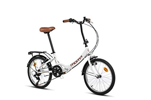 🥇 Moma Bikes Bicicleta Plegable Urbana SHIMANO FIRST CLASS 20″ Alu