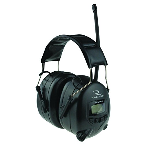 Radians Digital AM/FM Radio Earmuffs, Black