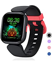 Mgaolo Smart Watch for Kids Girls Boys 6+, Waterproof Fitness Tracker with Heart Rate Sleep Monitor,19 Sport Modes Activity Tracker with Pedometer Alarm Clock,Step Calories Counter,Kids Gift