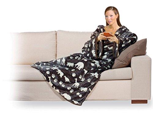 Coperta Con Le Maniche Leopardata.Snug Rug Coperta Con Maniche Deluxe Per Adulti 214 X 152 X 1 Cm
