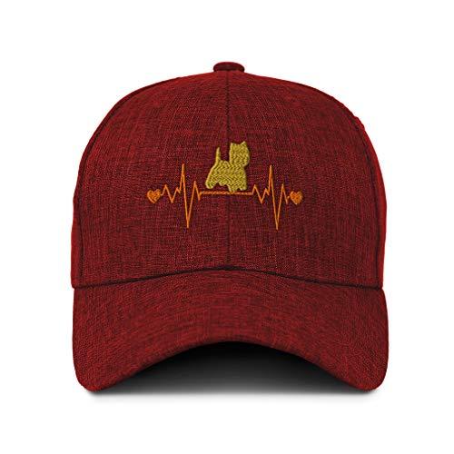 Frise Bichon Baseball Cap - Baseball Cap Bichon Frise Terrier Lifeline Embroidery Acrylic Casual Hats for Men & Women Strap Closure Red
