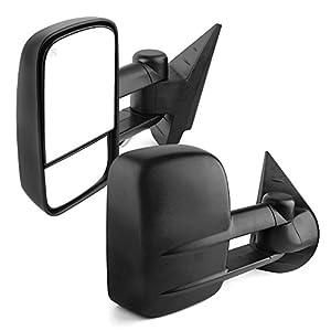 YITAMOTOR Towing Mirrors for 07-14 Chevy Silverado GMC Sierra 1500/2500/3500 Yukon Pair Set Power Heated Side Mirrors