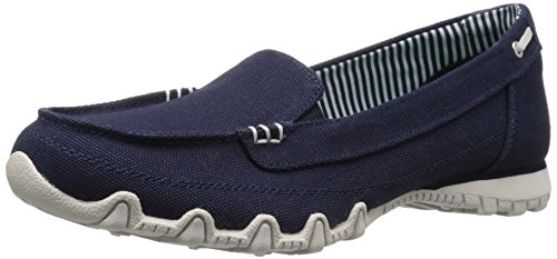 Bikers Donna Pedestrian Scarpe Canvas navy Collo Basso Skechers Blu A q6YSWxUZUd