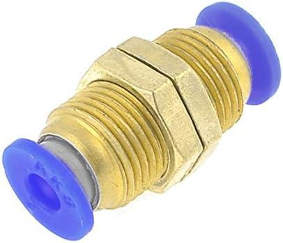 uxcell エアチューブ継手 プラスチック製真鍮トーン クイックカプラー オスネジ