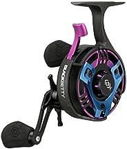 13 FISHING - Freefall TRICKSHOP Edition 2020 - Inline Ice Fishing Reels - Black with Purple & Blue Acc