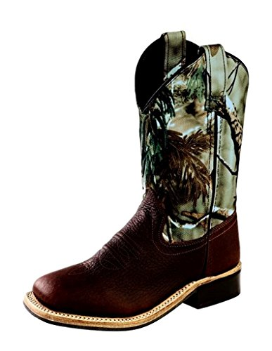 Old West Boys' Camo Western Boot Square Toe Oiled Rust 2 ...