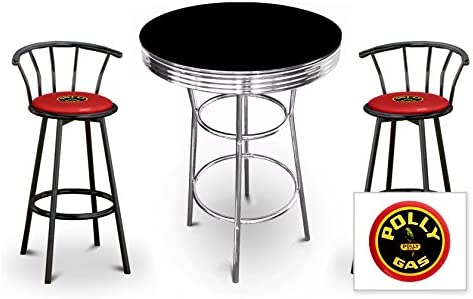 Flash Furniture Commercial Grade 2 Pack 24 High Red Metal Indoor-Outdoor Counter Height Stool with Vertical Slat Back