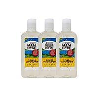 Shampoo Natural Herbal Limpieza Profunda de Romero Manzanilla Neem-Vegano Biodegradable-Sin quimicos Parabenos Petrolatos-Para toda la familia- Kit de 3 250 ml- 8.45 fl. oz each- Bienestar Neem Erfre