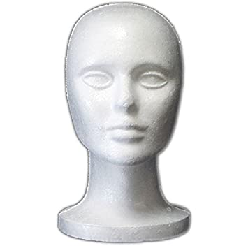 Amazon.com: Female Styrofoam Mannequin Head Display: Arts, Crafts ...