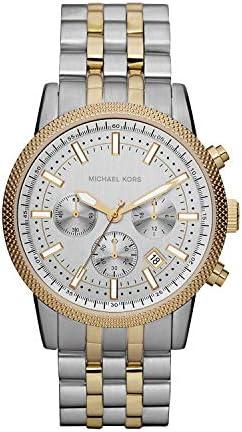 Michael Kors Men's Hutton Chronograph Black-Tone Stainless Steel Watch MK8238