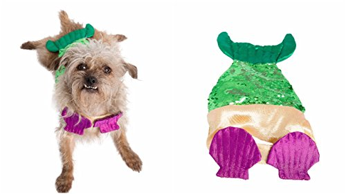 Pet Krewe PK00205S/M Mermaid Dog Costume with Two-Toned Sequin Tail, Small/Medium, Multi -