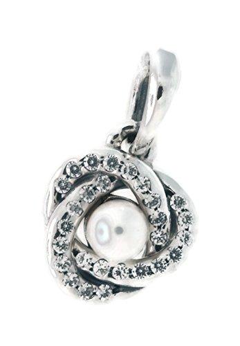 PANDORA Luminous Love Knot, White Crystal Pearl & Clear CZ 390401WCP