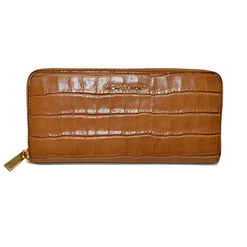 Clutch Collection Croco (MICHAEL Michael Kors Women's Mercer Continental Wallet (Acorn))