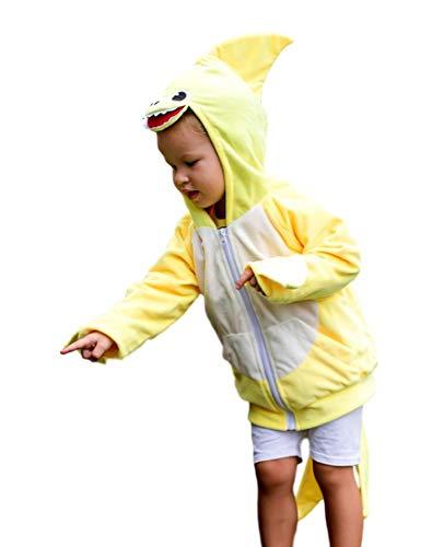 ComfyCamper Yellow Baby Shark Costume Hoodie (1-2 ()