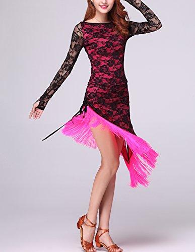 Rosa Frange Whitewed Di Vintage Partito Gatsby Ballo Di Di Flapper Costume 20 Stile Pizzo H00rZnwq4U