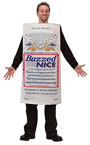 UHC Men's Buzzed Nice Beer Outfit Funny Comical Theme Party Halloween Costume, (Nice Cheap Halloween Costumes)